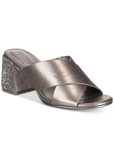 Kenneth Cole Reaction Women's Mass Away Block-Heel Slide Sandals Women's Shoes