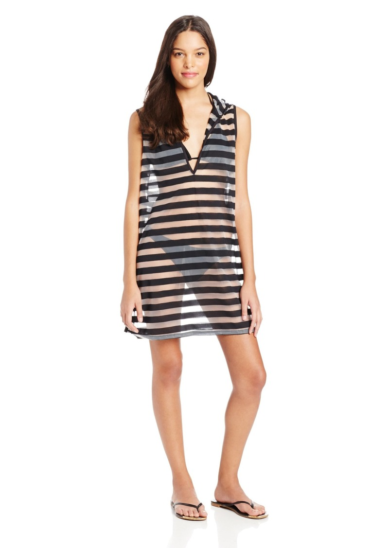 Kenneth Cole Reaction Women's Mod Stripes Sleeveless Cover Up