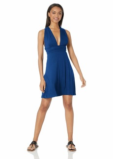 Kenneth Cole REACTION Women's Multi-Way Convertible Wrap Beach Dress Marine//Cover me S
