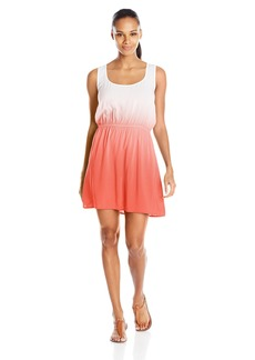 Kenneth Cole REACTION Women's Ombre Dip Dye Crochet Racerback Cover Up Dress