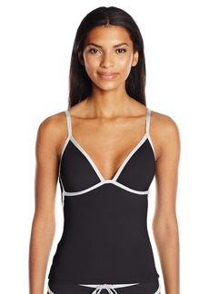 Kenneth Cole REACTION Women's on The Edge Push up Tankini  L
