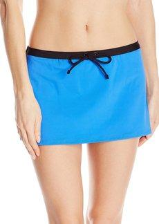 Kenneth Cole REACTION Women's On The Edge Skirted Bikini Bottom With Adjustable Drawstring Waist  M
