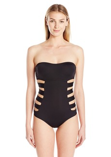 Kenneth Cole Reaction Women's One Piece Swimsuit with Side Cut-Outs
