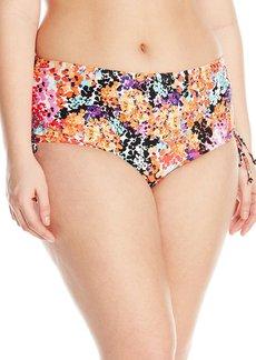 Kenneth Cole Reaction Women's Plus-Size Darling Ditsy Adjustable High Waist Bikini Bottom  2X