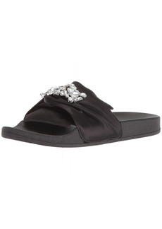 Kenneth Cole REACTION Women's Pool Slide Sandal with Faux Jewel Detail   M US