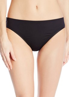 Kenneth Cole Reaction Women's Rainbow Connection Solid Hipster Bikini Bottom black XL