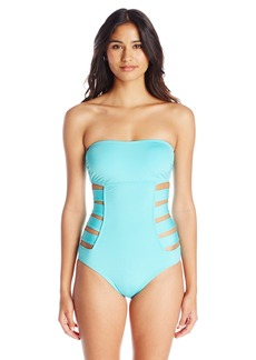 Kenneth Cole Reaction Women's Ruffle-Licious Banded One Piece Swimsuit