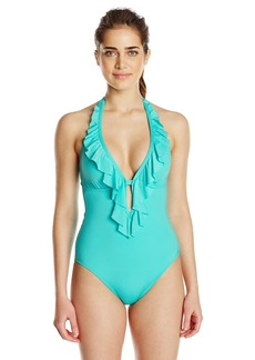 Kenneth Cole Reaction Women's Ruffle-Licious One Piece Swimsuit