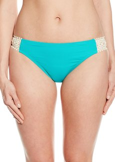 Kenneth Cole Reaction Women's Ruffle Shuffle Crochet Tab Bikini Bottom