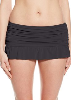 Kenneth Cole Reaction Women's Ruffle Shuffle Skirted Bikini Bottom