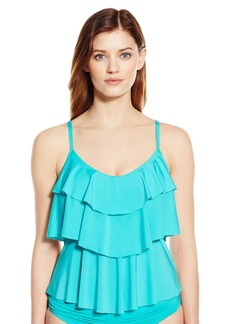 Kenneth Cole Reaction Women's Ruffle Shuffle Tiered Tankini