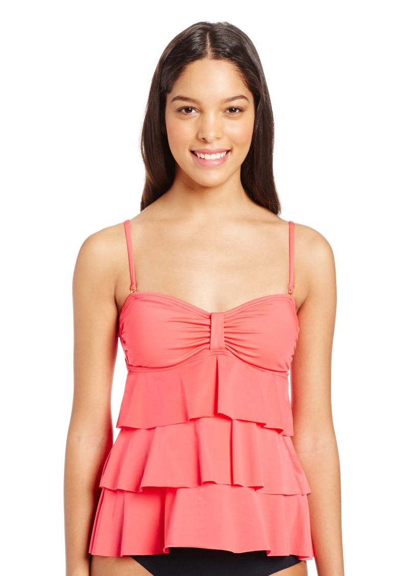Kenneth Cole REACTION Women's Ruffle-Tiered Tubini Swimsuit