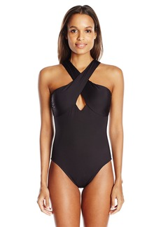 Kenneth Cole Reaction Women's Sea Gypsy Classic Retro One Piece Swimsuit  S