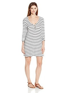 Kenneth Cole Reaction Women's Skyline Stripe Long Sleeve Tunic Cover-Ups