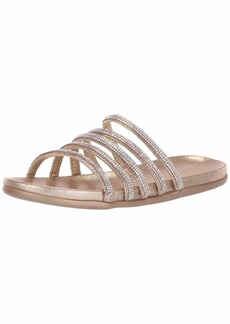 Kenneth Cole REACTION Women's Slim Shimmer Flat Strappy Sandal Sandal   M US