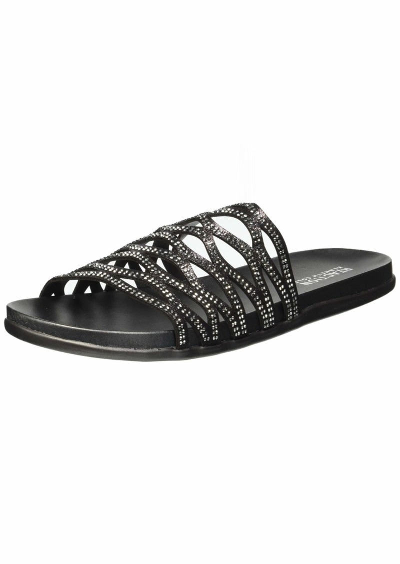 Kenneth Cole REACTION Women's Slim Slide Flat Sandal   M US