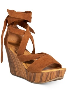 Kenneth Cole Reaction Women's Sole Rise Lace-Up Platform Wedge Sandals Women's Shoes