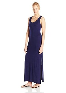 Kenneth Cole Reaction Women's Solid Crochet My Way Racerback Maxi Dress