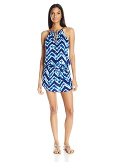 Kenneth Cole Reaction Women's Sound Wave High Neck Sun Dress Cover up with Removable Tie  XL