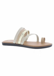 Kenneth Cole REACTION Women's Spring Toe Loop Flat Sandal   M US