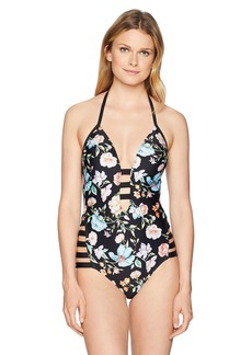 Kenneth Cole REACTION Women's Strappy Detail One Piece Swimsuit