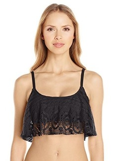 Kenneth Cole Reaction Women's Suns Out Crochet Buns Out Flounce Bikini Top