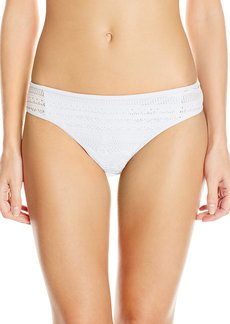 Kenneth Cole Reaction Women's Suns Out Crochet Buns Out Hipster Bikini Bottom
