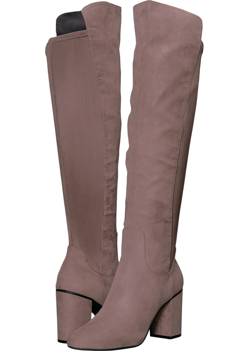 Kenneth Cole REACTION Women's Time Ahead Over The Knee Stretch Boot High Heel Riding   M US