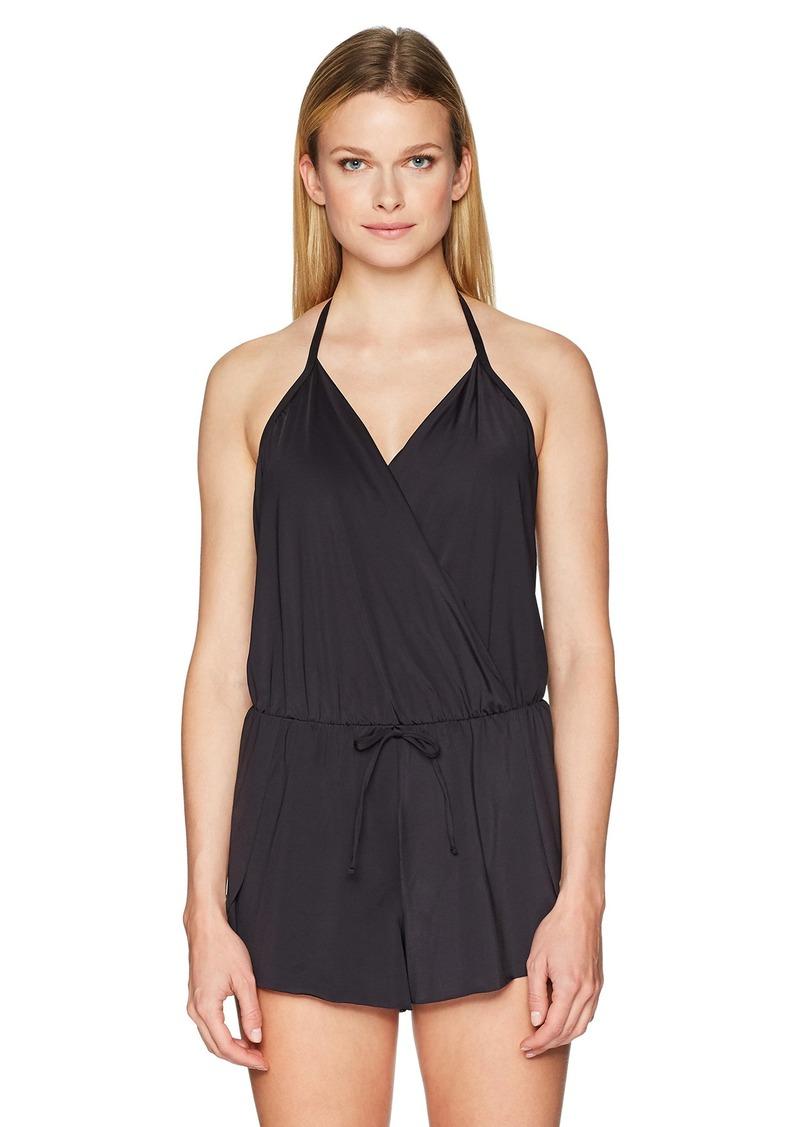 Kenneth Cole REACTION Women's V-Neck Romper Dress Swimsuit  Extra Large