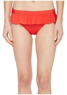 Kenneth Cole Ready To Ruffle Smocked Skirted Bikini Bottom