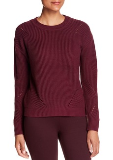 Kenneth Cole Ribbed Open-Stitch Sweater