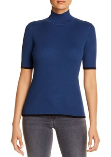 Kenneth Cole Ribbed Tipped Mock-Neck Sweater