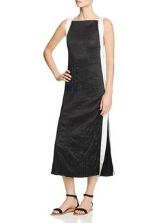 Kenneth Cole Ribbon-Trimmed Midi Dress