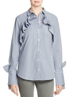 Kenneth Cole Ruffled Poplin Shirt