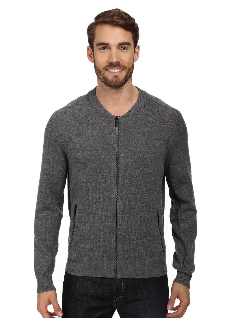 Kenneth Cole Sportswear L/S Mock Raglan w/ Zip