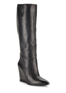 Kenneth Cole Statton Leather Point Toe Wedge Boots