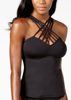 Kenneth Cole Strappy Tummy-Control Tankini Top Women's Swimsuit