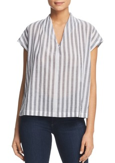 Kenneth Cole Striped Boxy Top