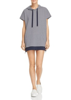 Kenneth Cole Striped Hoodie Dress
