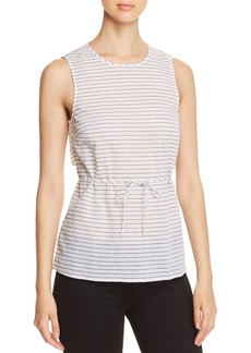 Kenneth Cole Striped Sleeveless Wrap Top