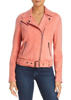 Kenneth Cole Suede Moto Jacket