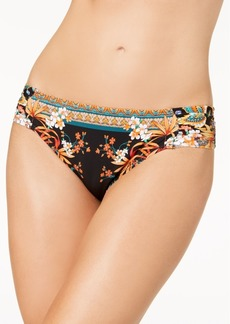 Kenneth Cole Tahiti Printed Tabbed Bikini Bottoms Women's Swimsuit
