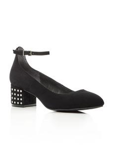 Kenneth Cole Thalia Ankle Strap Block Heel Pumps