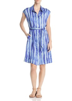Kenneth Cole Tie-Dye Stripe Shirt Dress