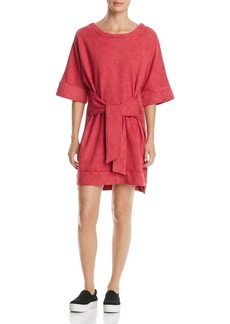 Kenneth Cole Tie-Front Sweatshirt Dress
