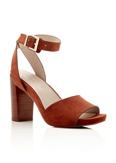 Kenneth Cole Toren Suede Ankle Strap High Heel Sandals