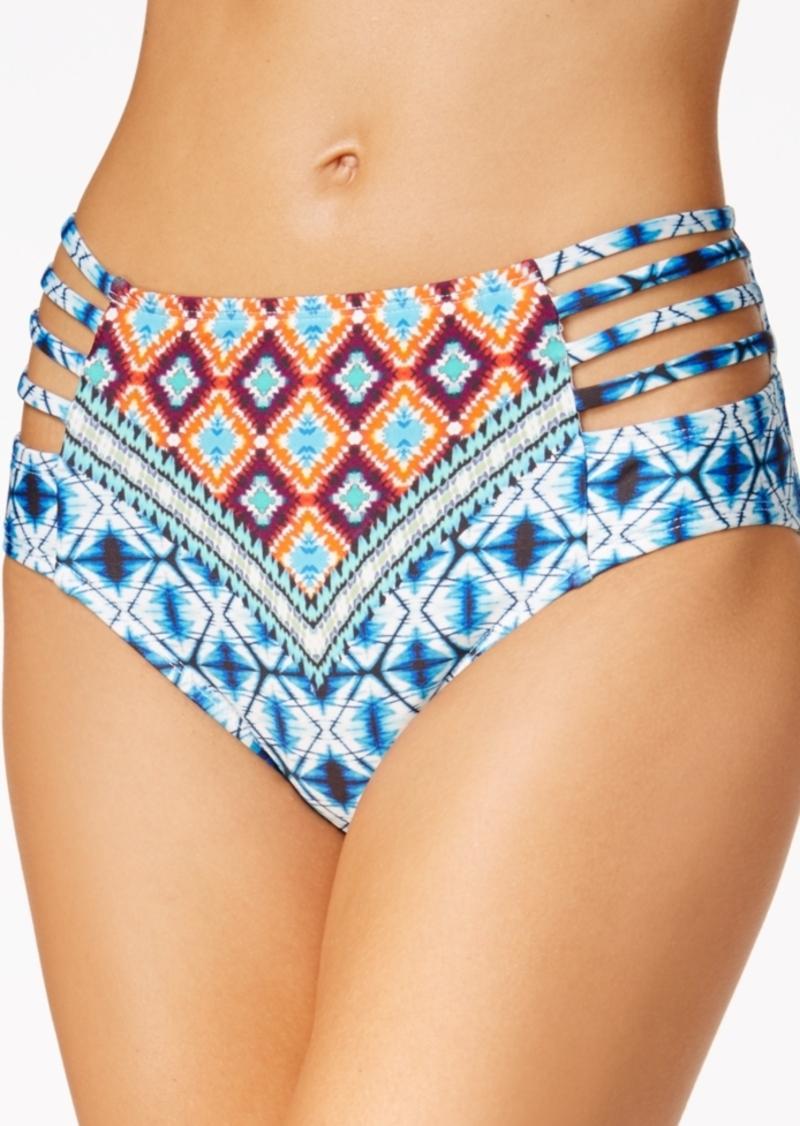 Kenneth Cole Tribe Vibes High-Waist Bikini Bottoms Women's Swimsuit