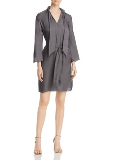 Kenneth Cole Twill Tie-Neck Dress