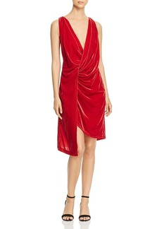 Kenneth Cole Twist-Front Velvet Dress - 100% Exclusive