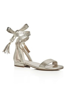 Kenneth Cole Valen Metallic Ankle Tie Sandals